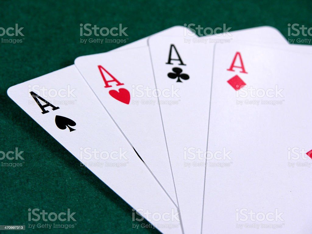 Aces - All 4 suits royalty-free stock photo