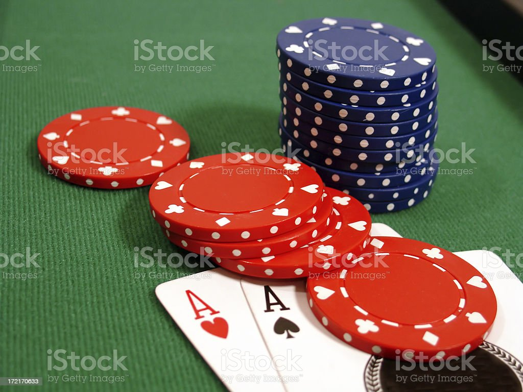 Aces and Chips2 royalty-free stock photo