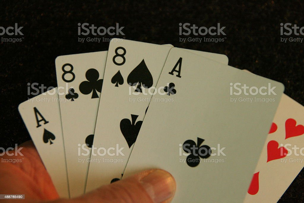 Aces Eights stock photo