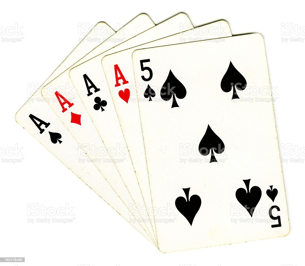 Aces Four of a Kind royalty-free stock photo