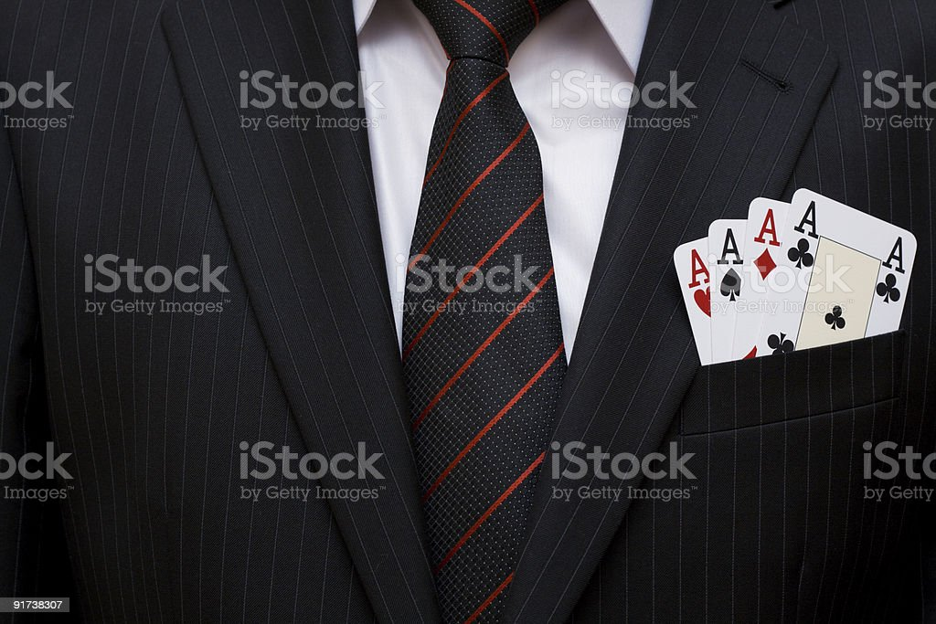 Aces in pocket stock photo