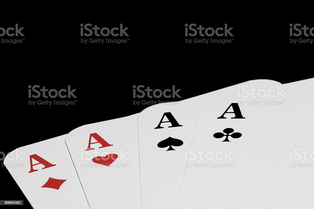 Aces isolated on black stock photo
