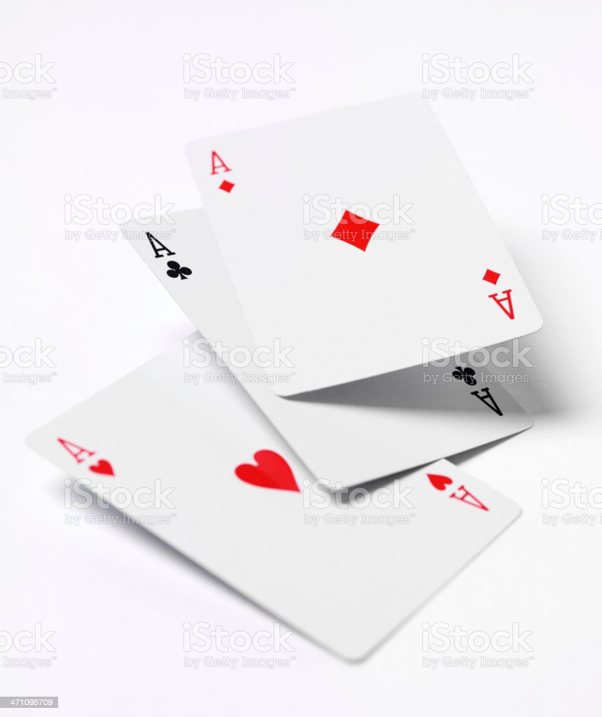 Aces on Cards royalty-free stock photo