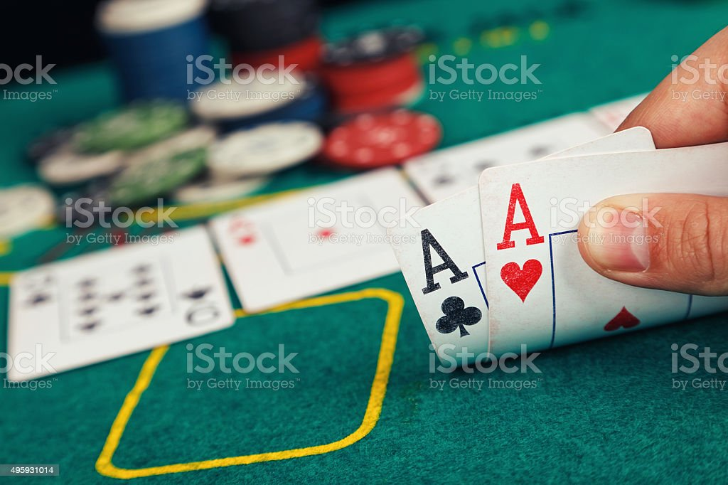 Aces pair stock photo