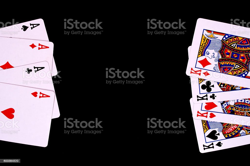 Aces vs Kings stock photo