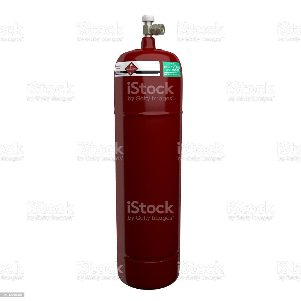 Acetylene Cylinder stock photo