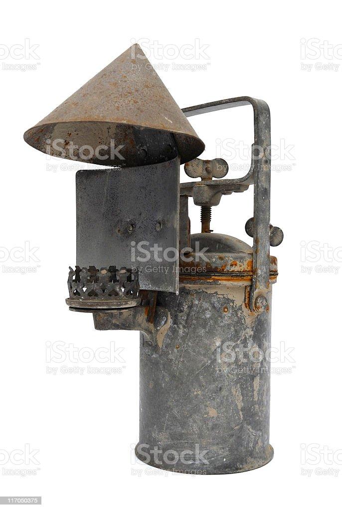Acetylene old lamp stock photo