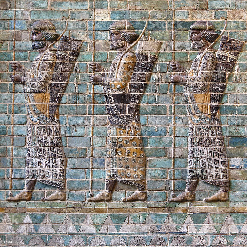 Achaemenid Soldiers stock photo