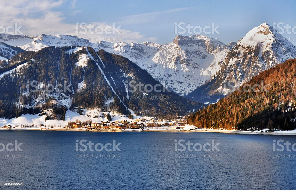 Achensee lake in Austrian Alps stock photo
