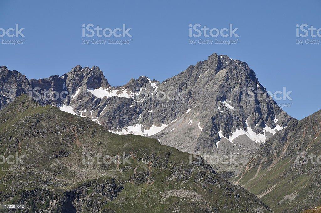 Acherkogel, a mountain in Austria royalty-free stock photo
