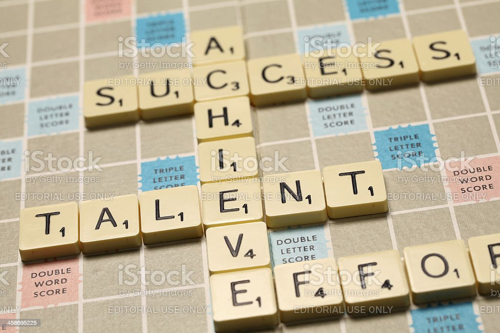 Achieve - Scrabble words royalty-free stock photo