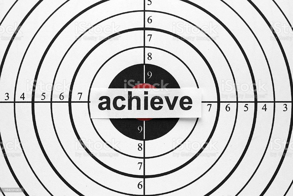 Achieve target royalty-free stock photo