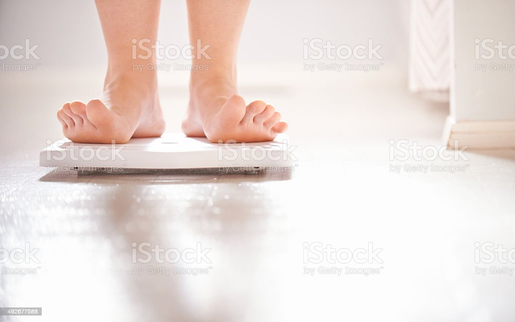 Achieve your ideal weight! stock photo
