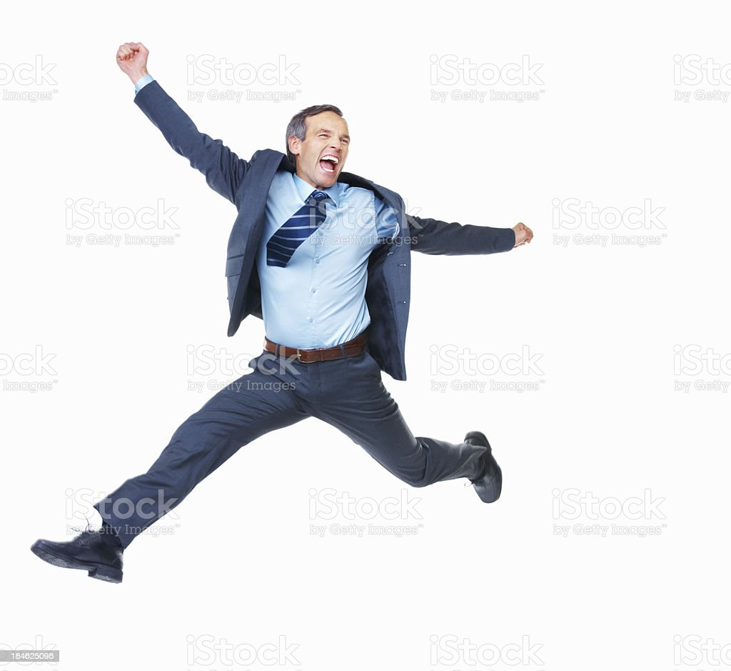 Achieved business goal royalty-free stock photo