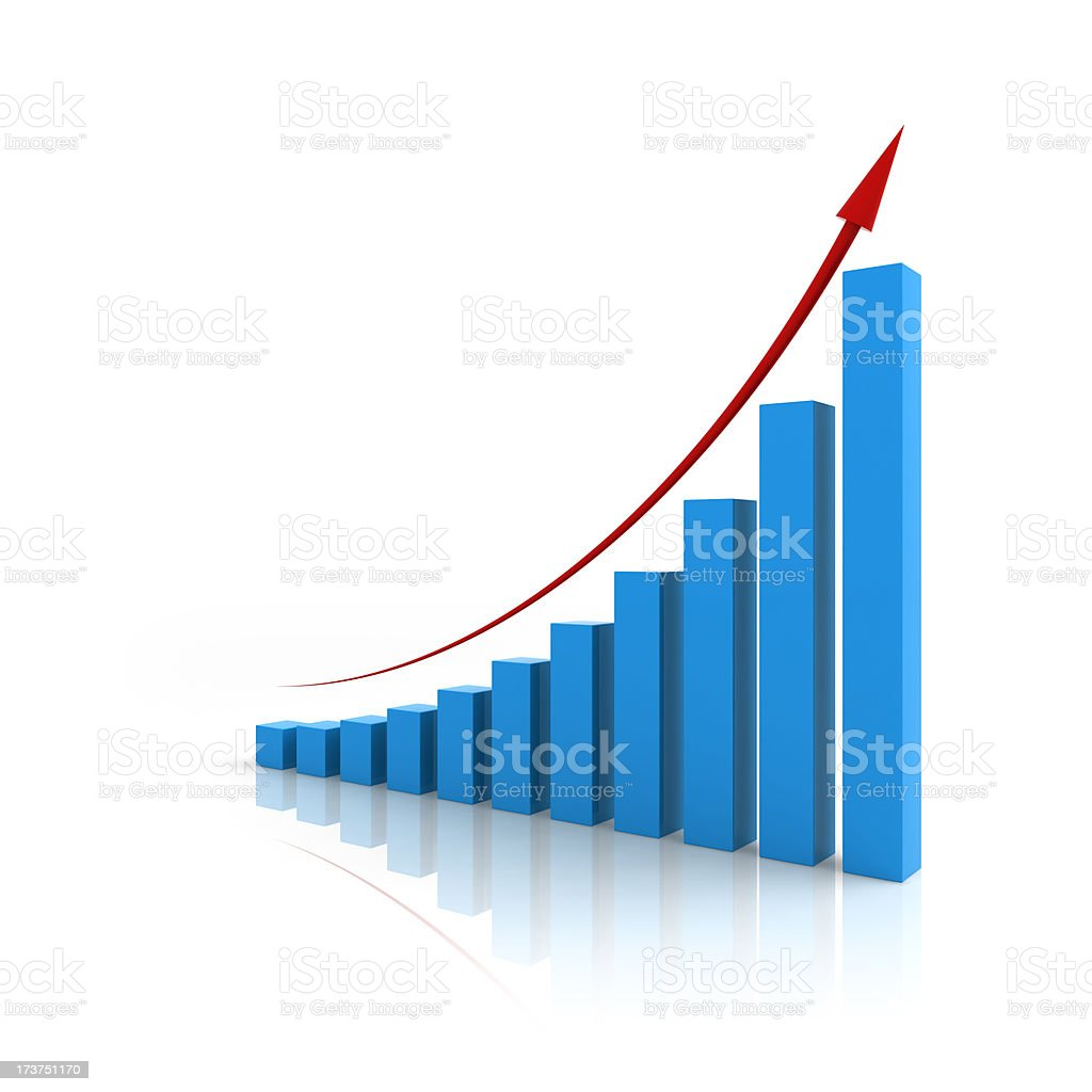 Achievement Chart (or Dollar Growth Increase) stock photo