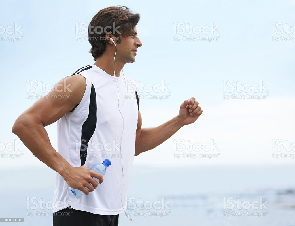 Achieving a healthy body and mind, one step at a time! royalty-free stock photo