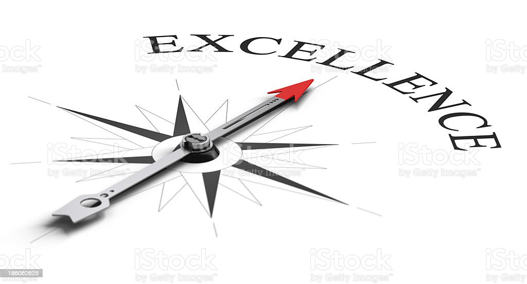Achieving Excellence stock photo