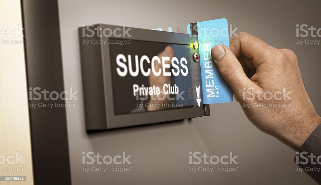 Achieving Success, accomplishment. stock photo