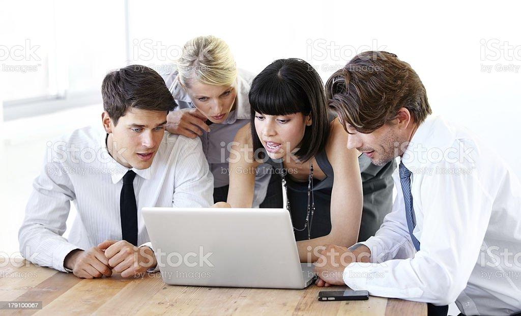 Achieving success through teamwork royalty-free stock photo