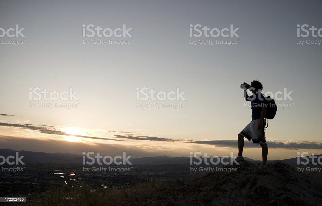 Achieving the Summit stock photo