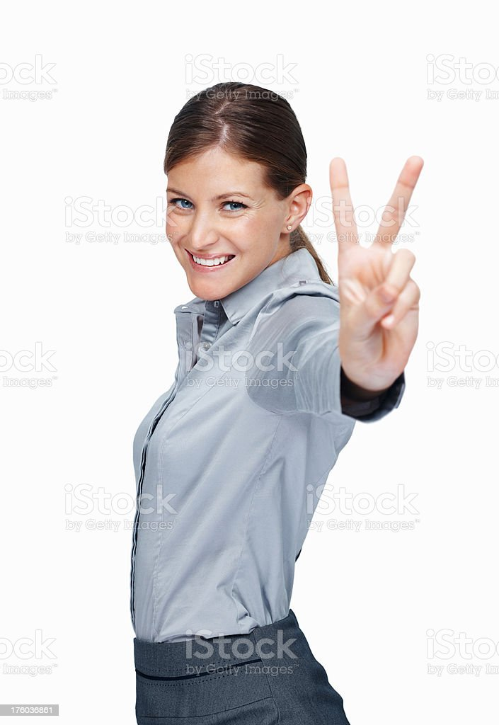 Achieving victory in the business world stock photo