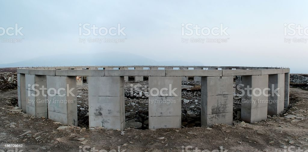 Achill Henge west face royalty-free stock photo