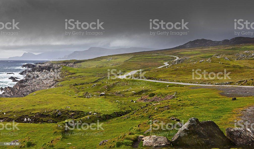Achill Island Atlantic Drive stock photo