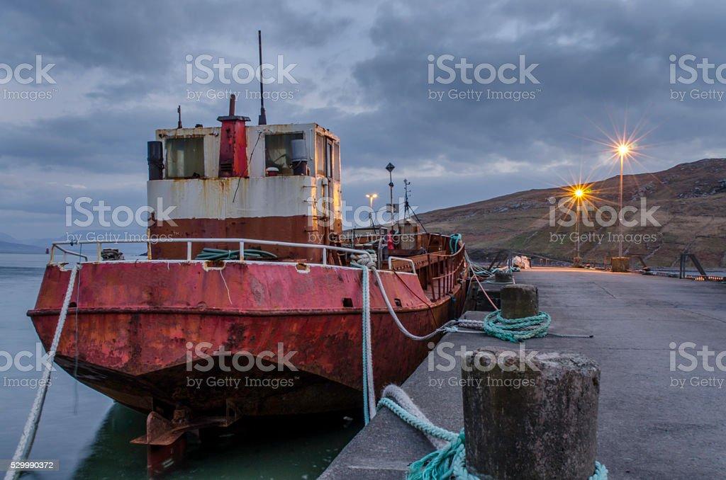 Achill Island Fishing Trawler royalty-free stock photo