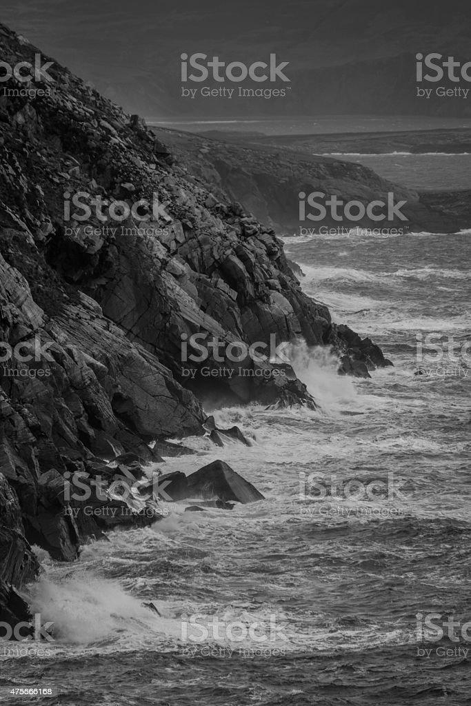 Achill waves stock photo