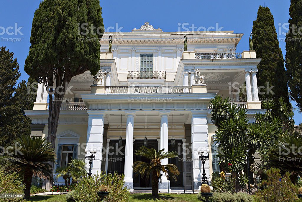 Achilleion palace at Corfu island, Greece royalty-free stock photo