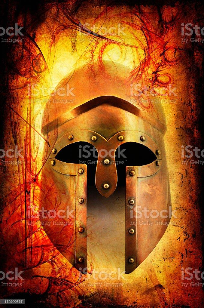 Achilles helmet stock photo