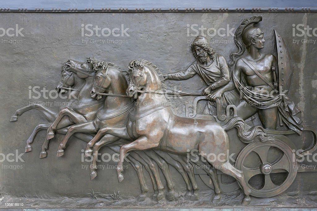 Achillion Palace Bronze Relief Lizenzfreies stock-foto