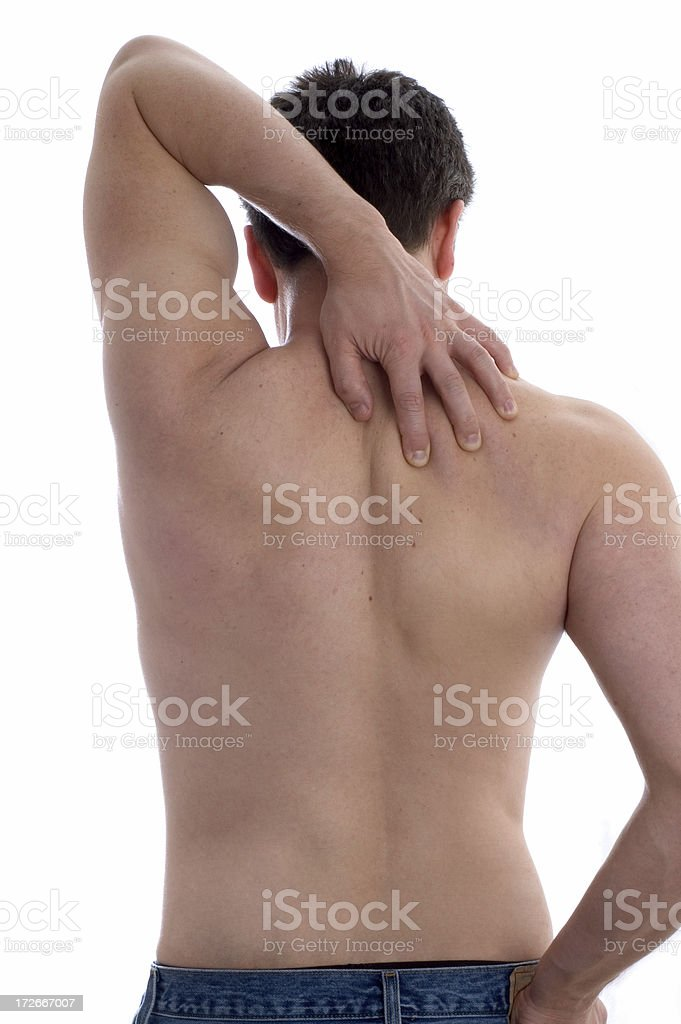 aching shoulder royalty-free stock photo