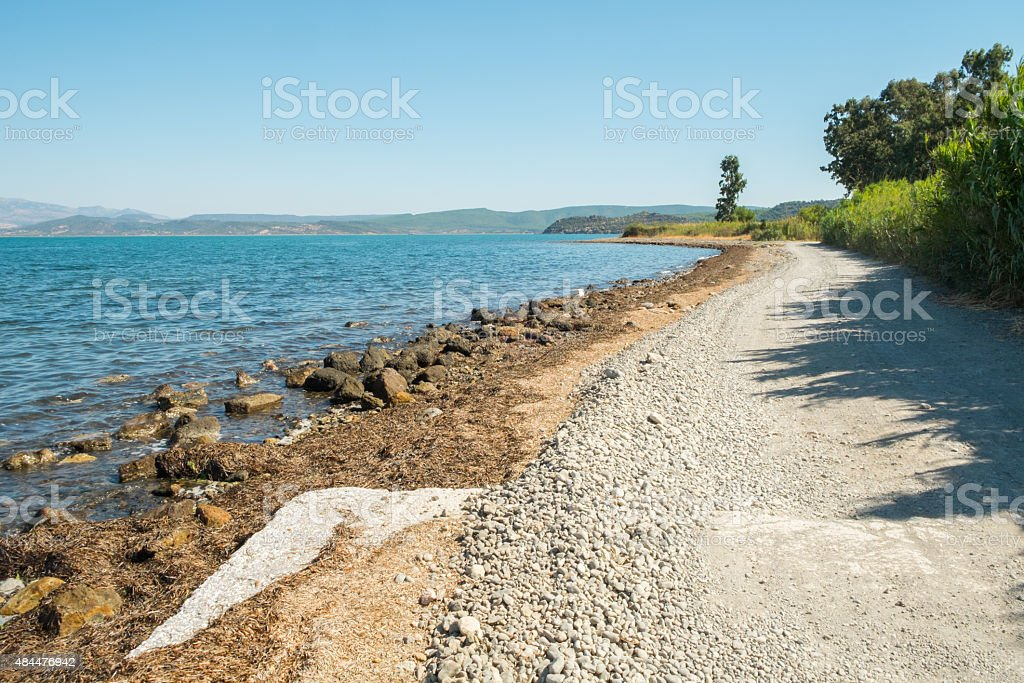 Achladeri beach stock photo