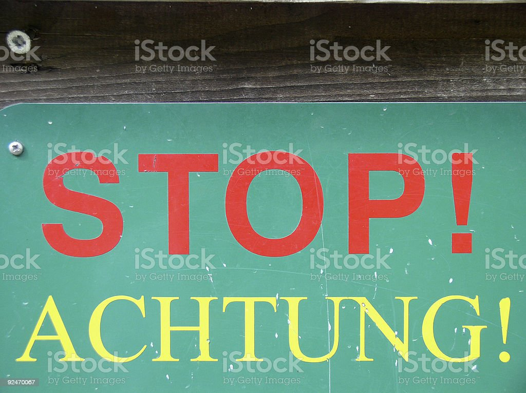 Achtung! royalty-free stock photo