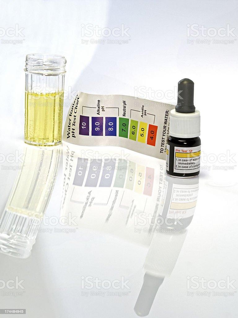 Acid acidic water test ph reagent royalty-free stock photo