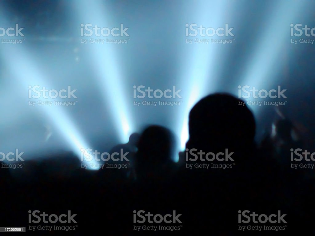 Acid Blue (rave atmosphere) royalty-free stock photo