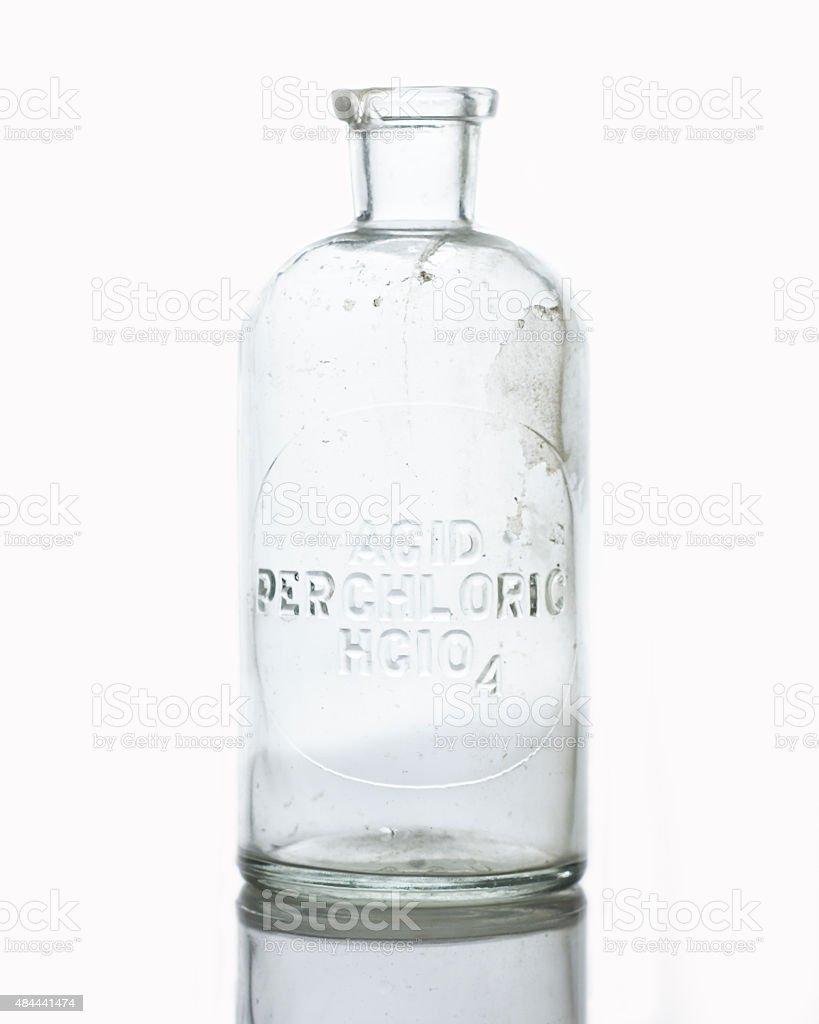 Acid bottle stock photo