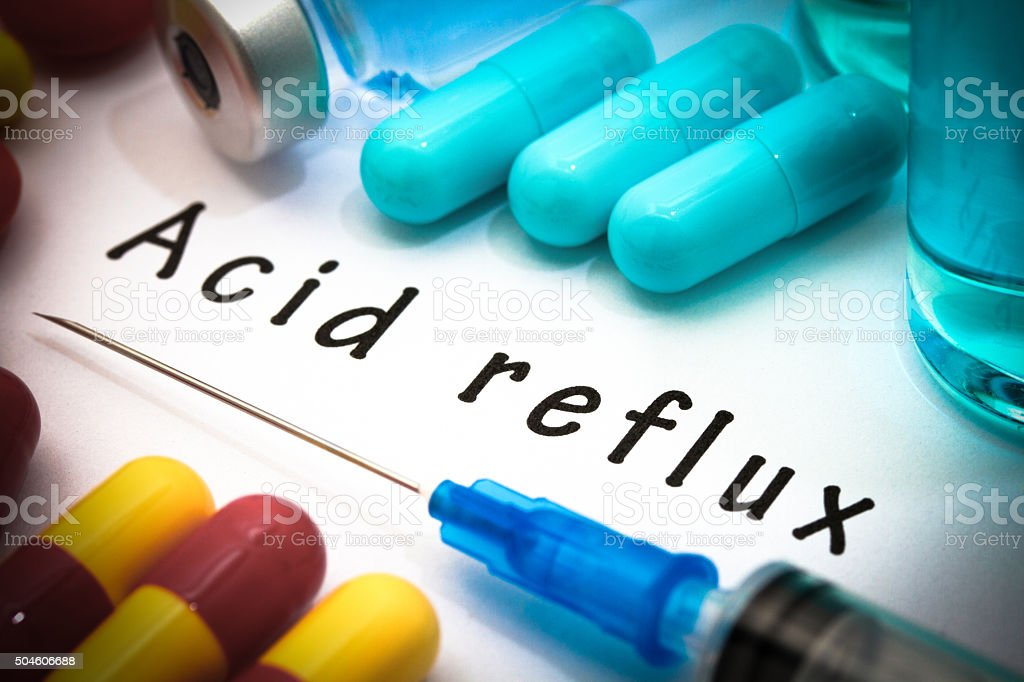 acid reflux stock photo