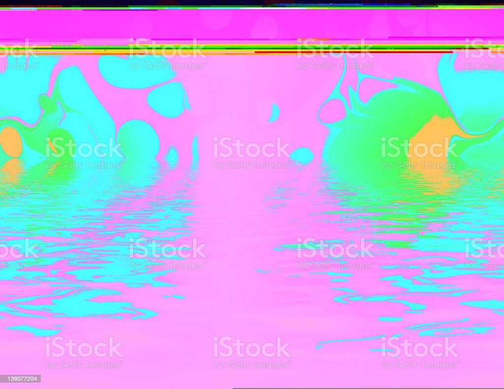 Acid Sea royalty-free stock photo