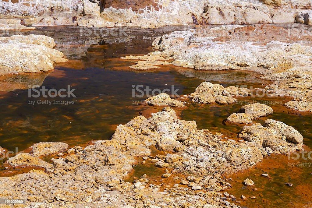acidic orange rio (river) Tinto in Niebla (Huelva) royalty-free stock photo