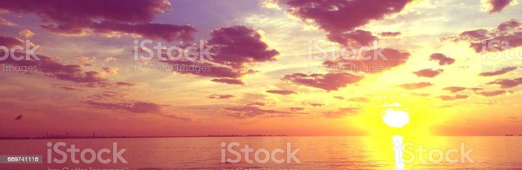 Acidic Sunrise stock photo