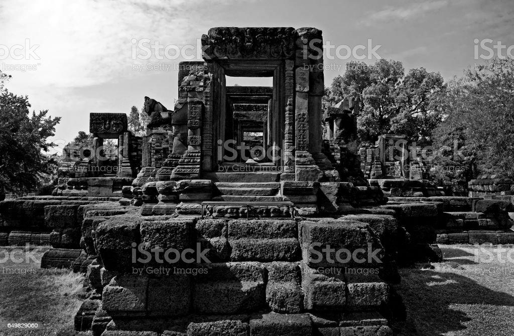 acient temple thailand stock photo