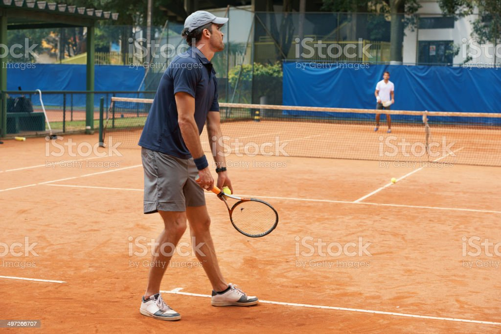 Acing his opponent royalty-free stock photo