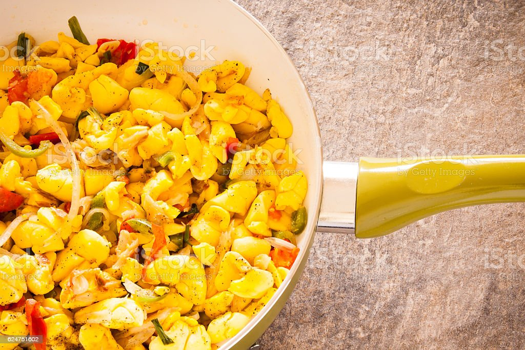 Ackee and Salt Fish stock photo