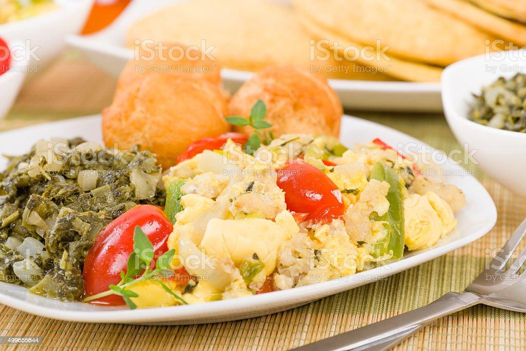 Ackee & Saltfish stock photo
