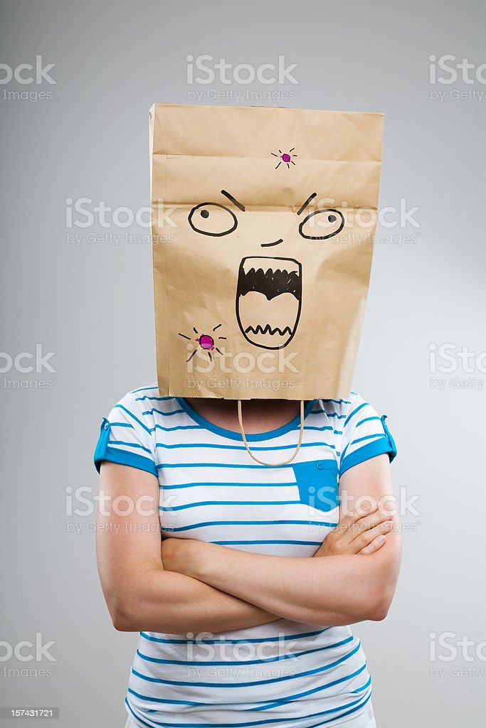 Acne Breakout royalty-free stock photo