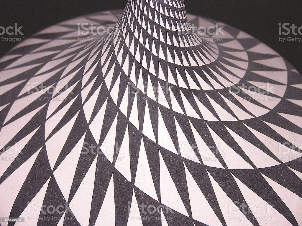 Acoma Pottery Detail royalty-free stock photo