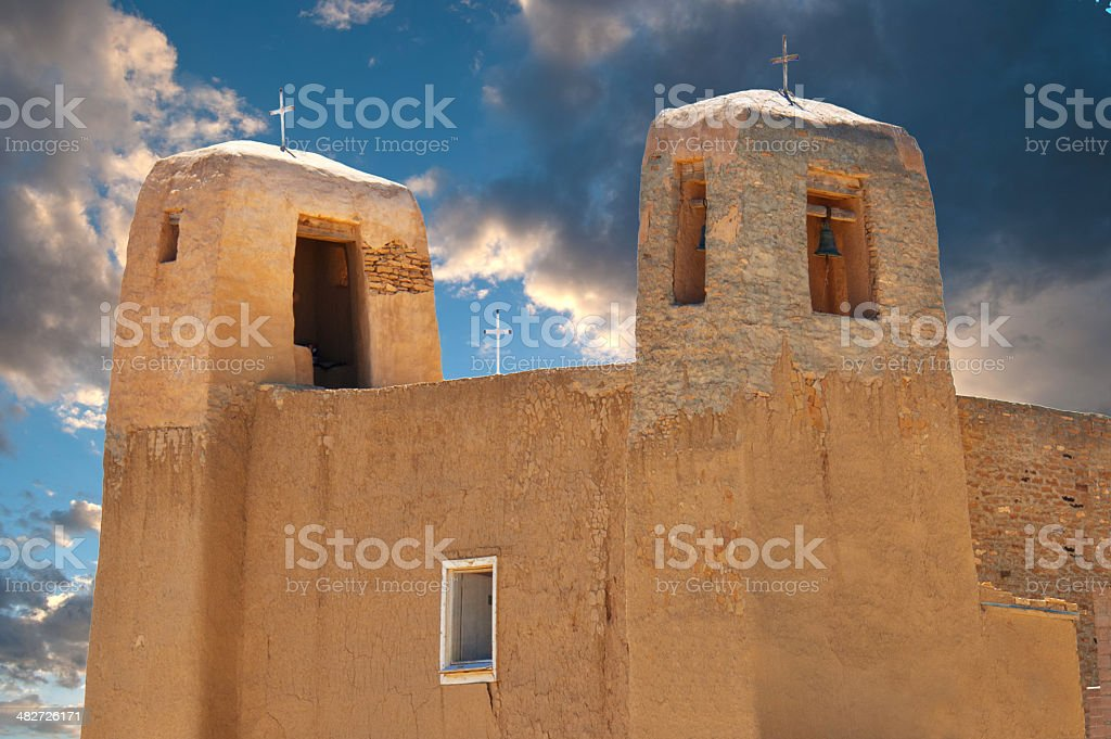 Acoma Pueblo San Estevan del Rey Mission Church stock photo