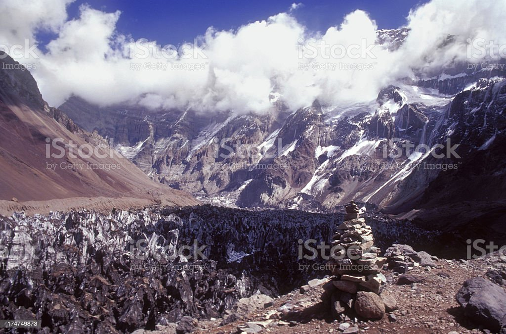 Aconcagua from 5000m royalty-free stock photo